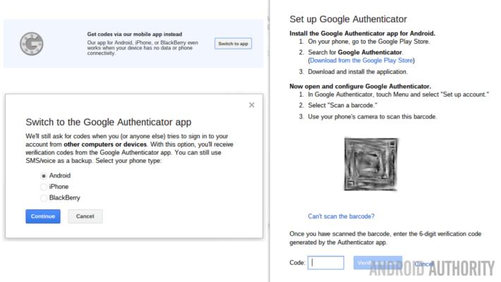 Google Account Two Factor Setup Authenticator