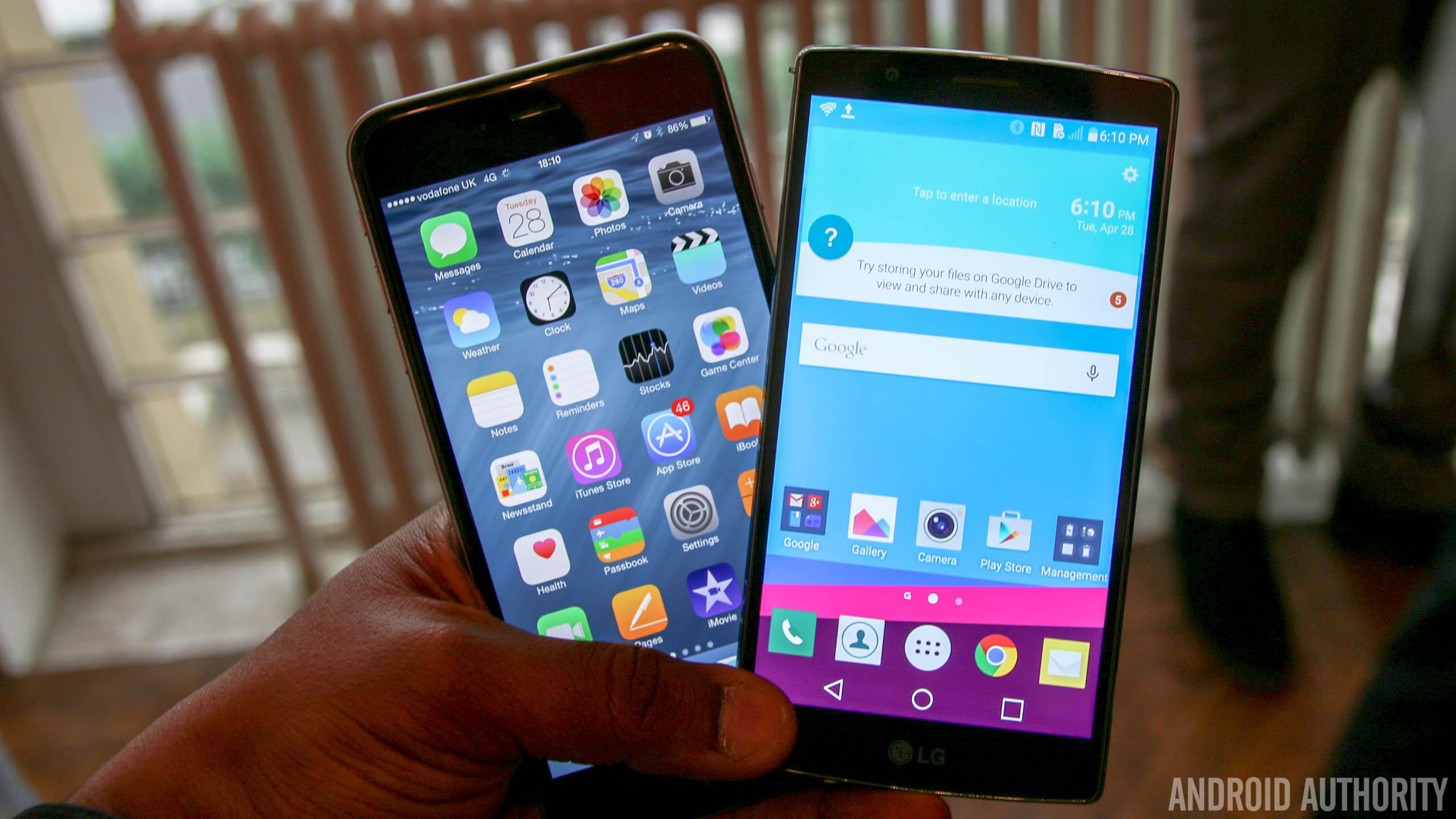 lg g4 vs iphone