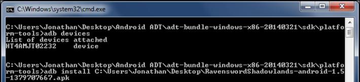 adb install command