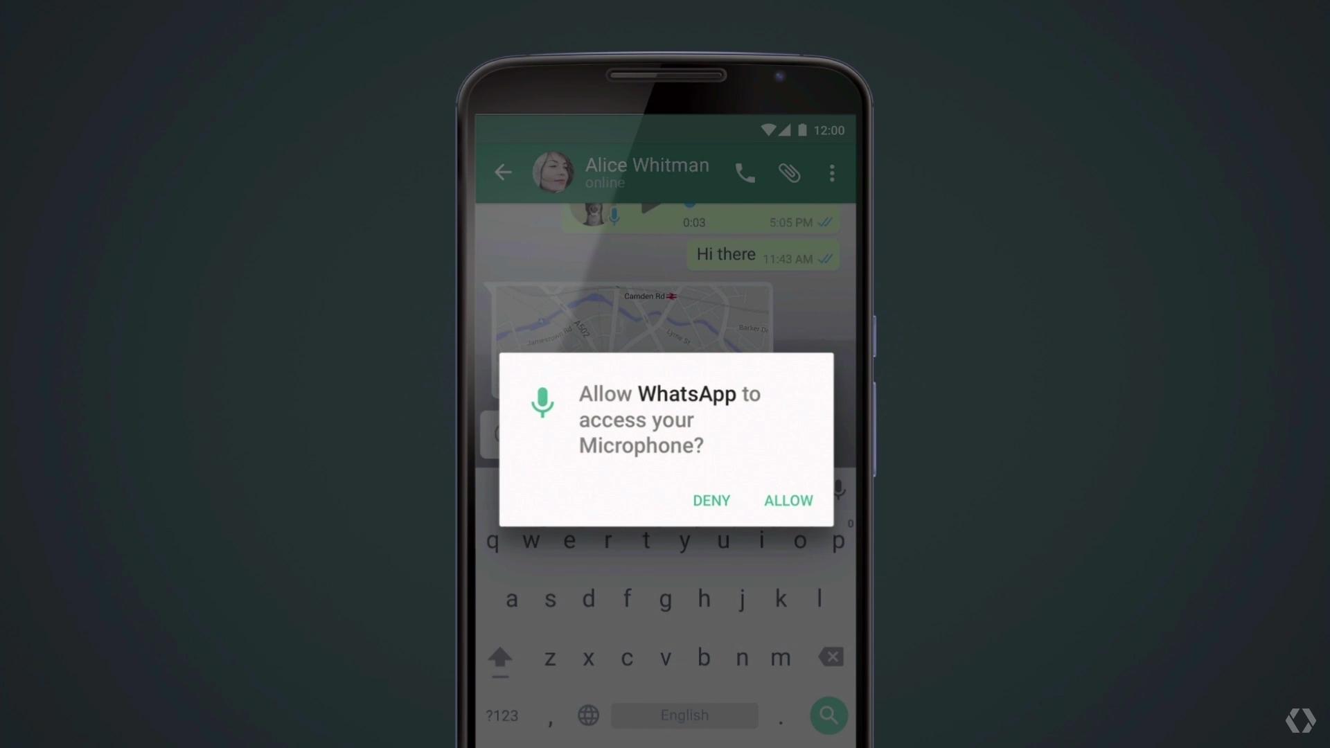 Google IO 2015 Dave Burke WhatsApp app permision