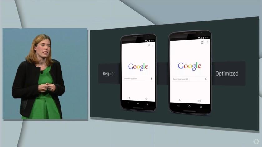 Google IO 2015 optimized light search