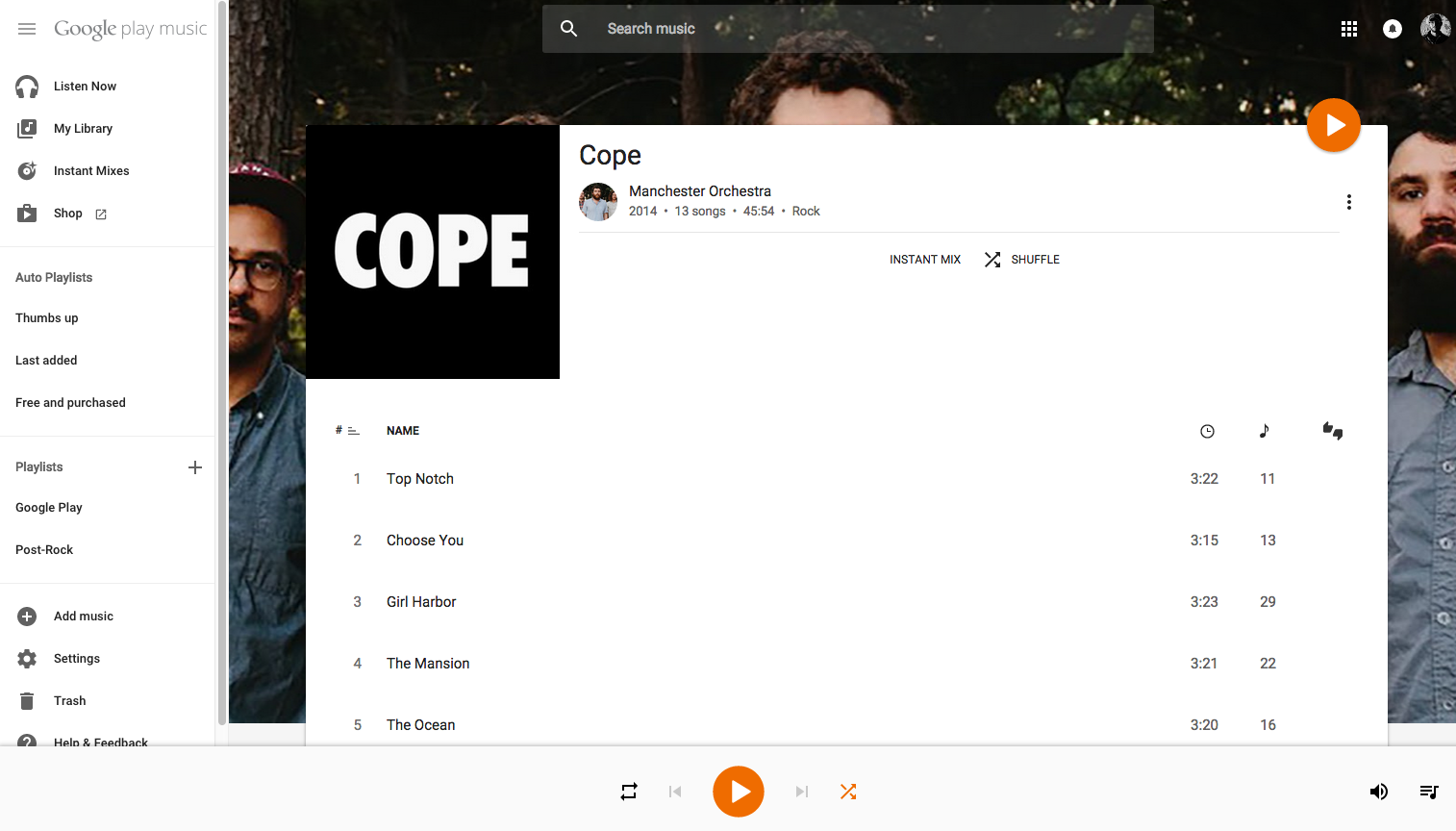 Google play music s web interface updated with huge material design