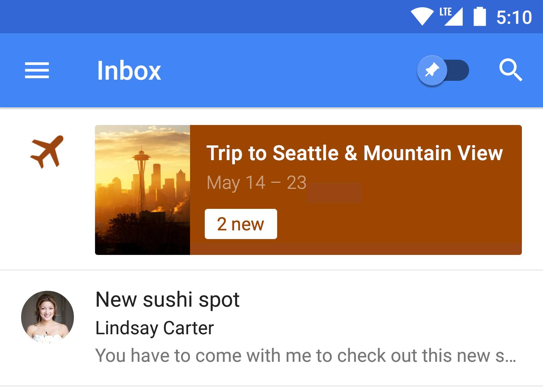 Inbox by Gmail Trips 1