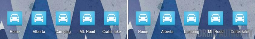 Zooper Widget Maps navigation shortcuts short
