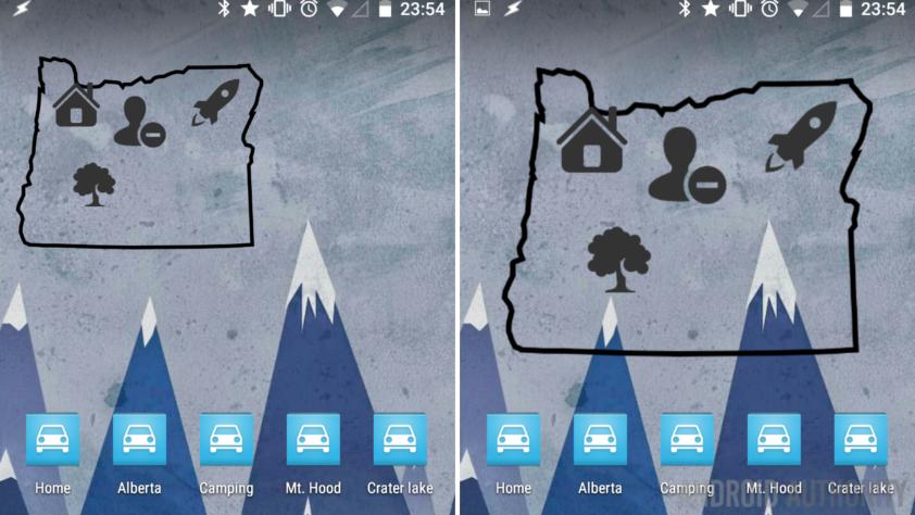 Zooper Widget Maps navigation shortcuts