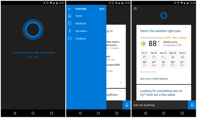 Cortana for Android AA