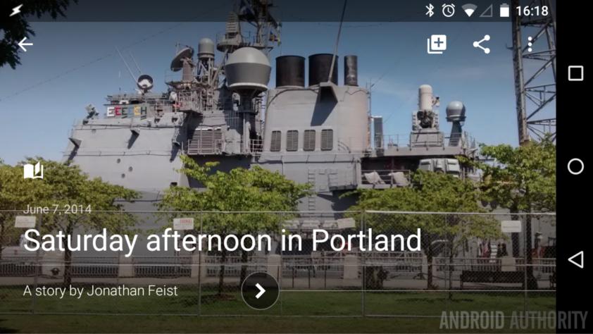 Google Photos Story Portland