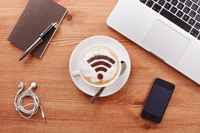WiFi coffee shutterstock