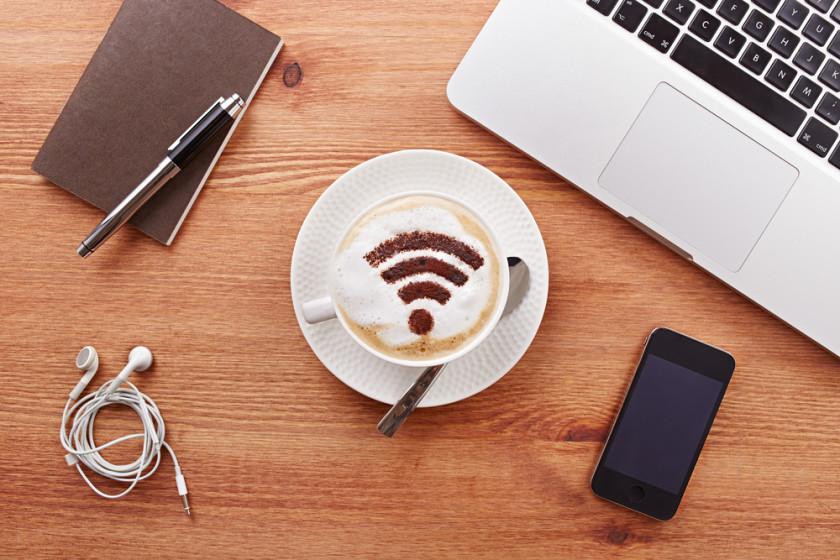 WiFi coffee shutterstock