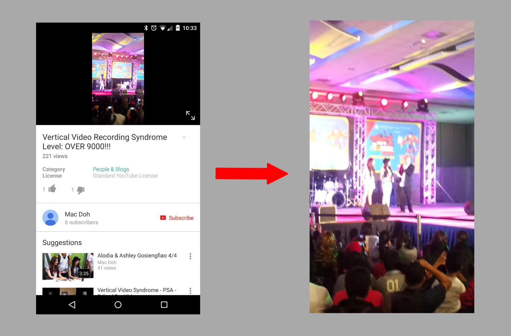 YouTube vertical videos AA