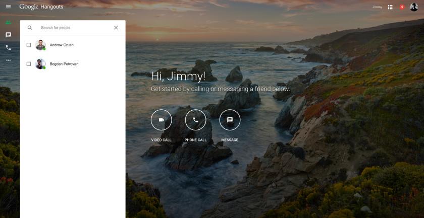 Google Hangouts web AA