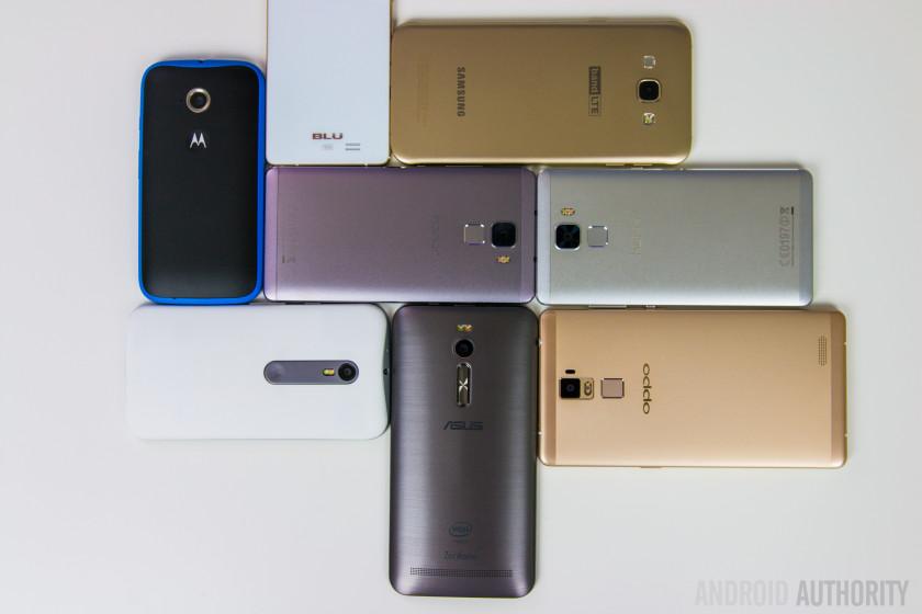 Midrange smartphones 2015-2