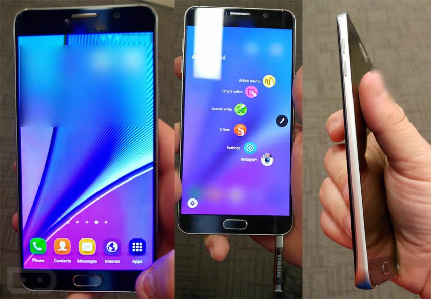 Samsung Galaxy Note 5 in hand