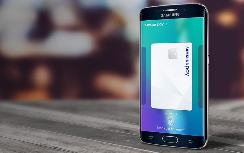 Samsung Pay press