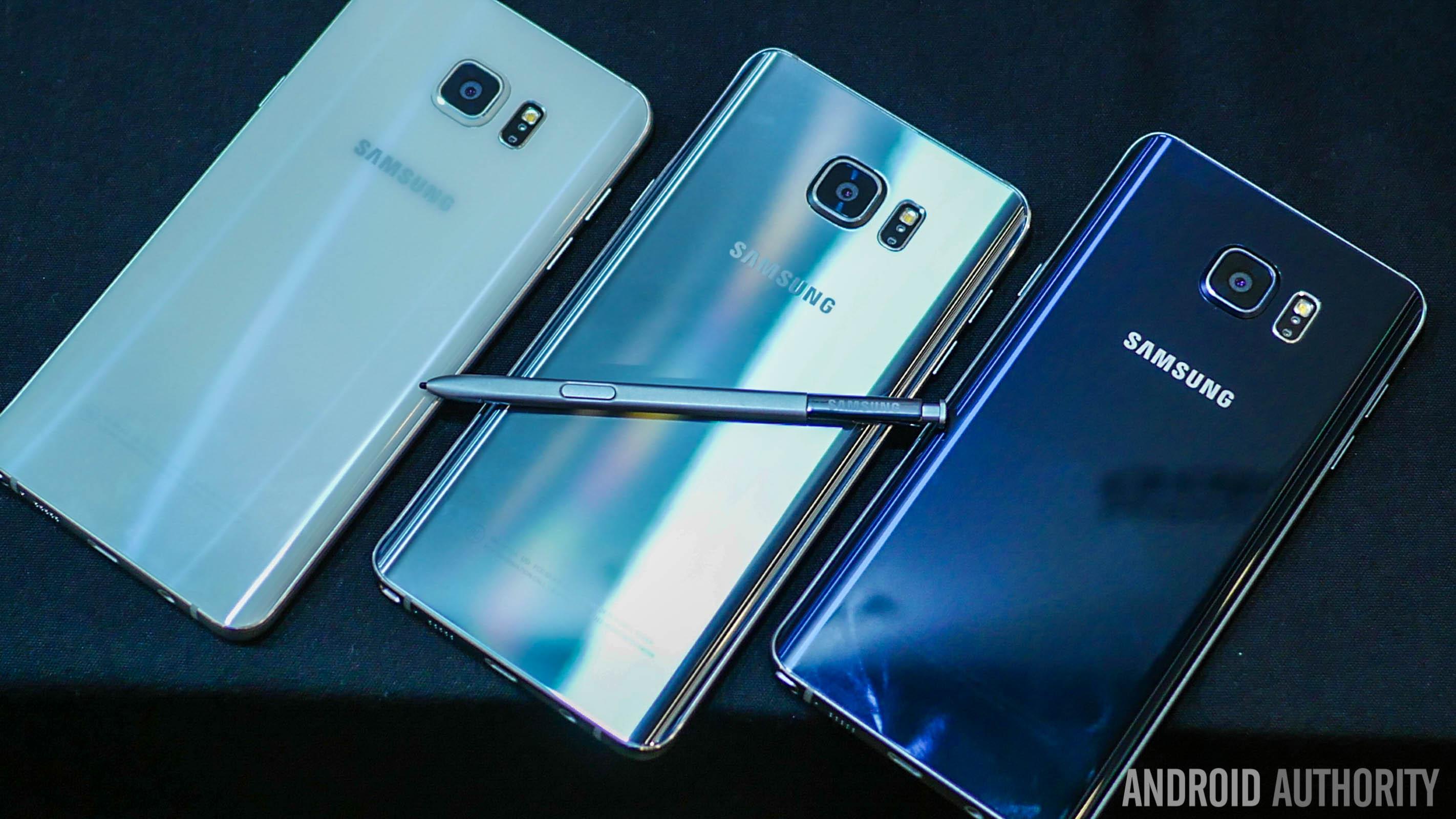 آغاز انتشار اندروید 7 برای نسخه دو سیم کارت Galaxy Note 5