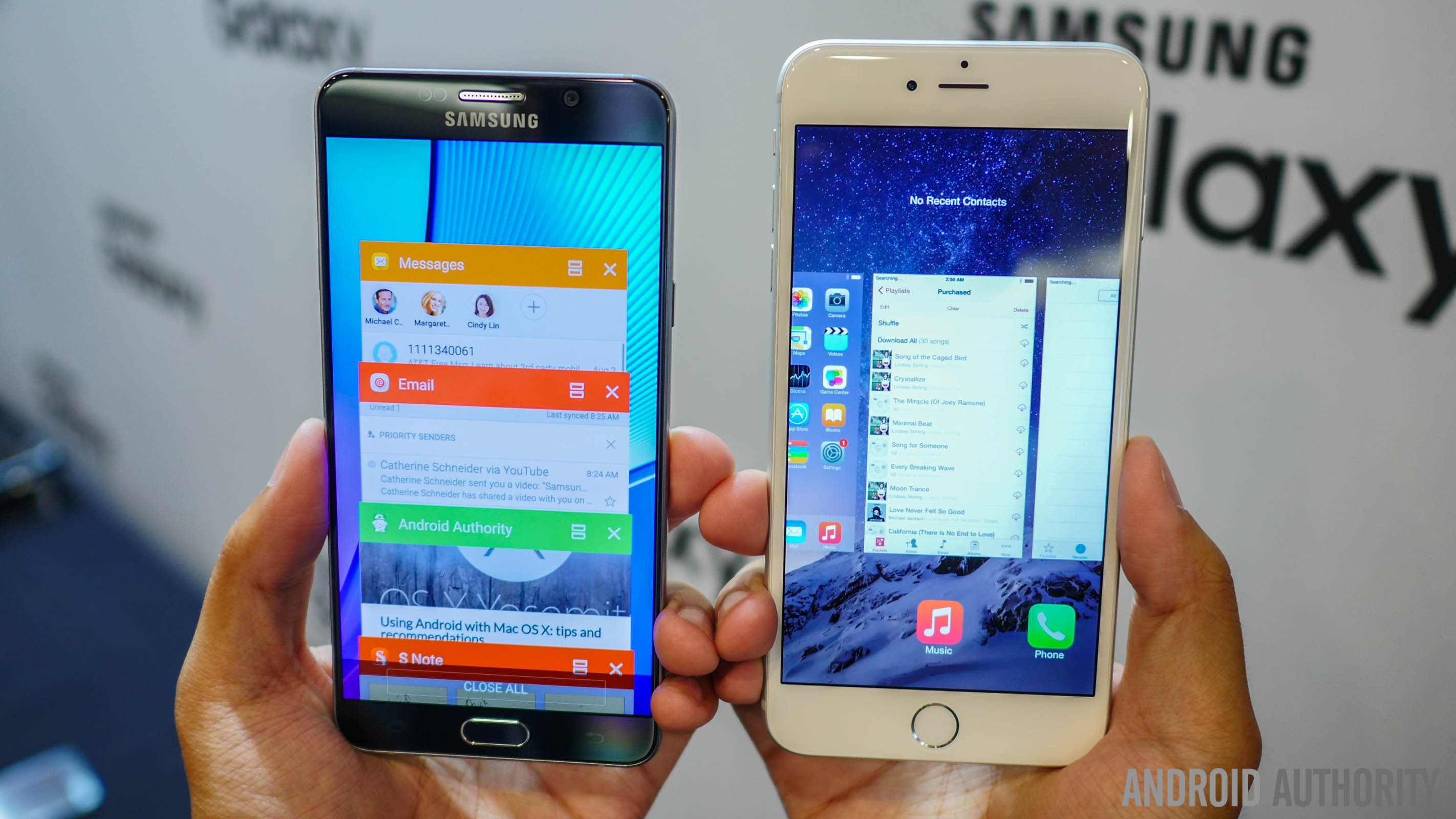 Samsung Galaxy Note 5 vs iPhone 6 Plus - which is the large screen ...