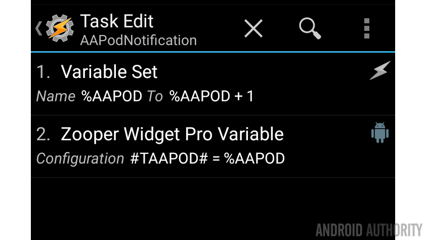 Tasker AAPodcast notification Task