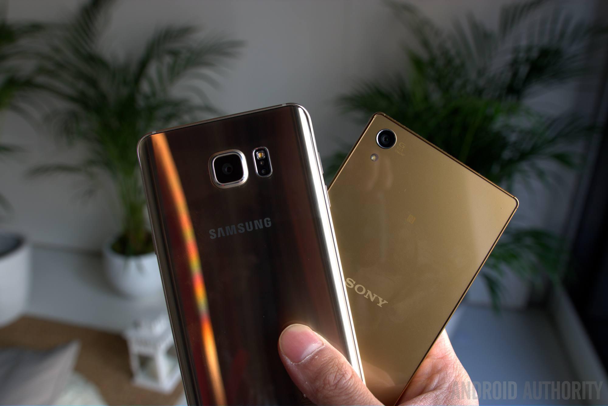 sony xperia z5 premium vs galaxy Note 5 aa 6