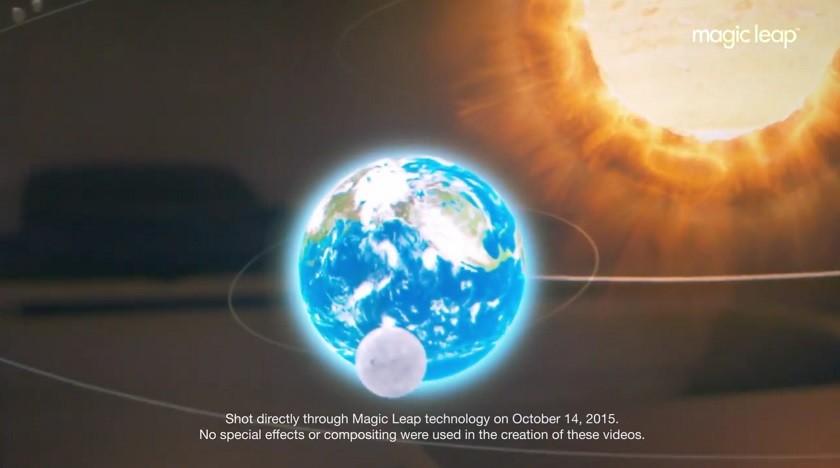 Magic Leap AG solar system video