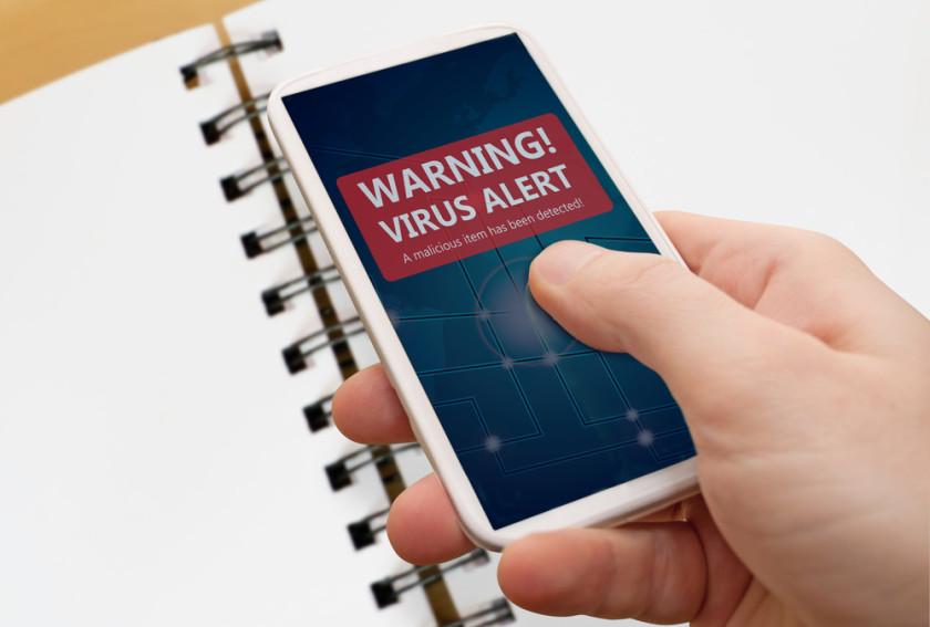 Snartphone adware virus alert