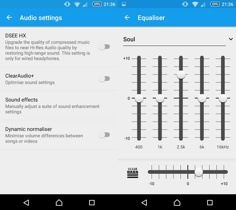 Z5Compact-audio-settings