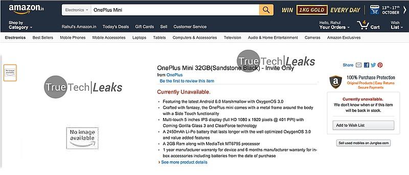 oneplus_x_mini_amazon_india_listing_true_tech