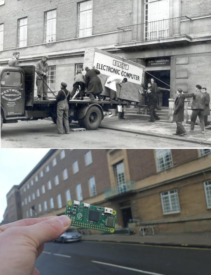 raspberry pi zero computer then and now