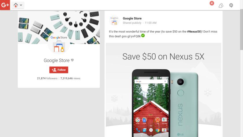 Google Store sale Nexus 5X
