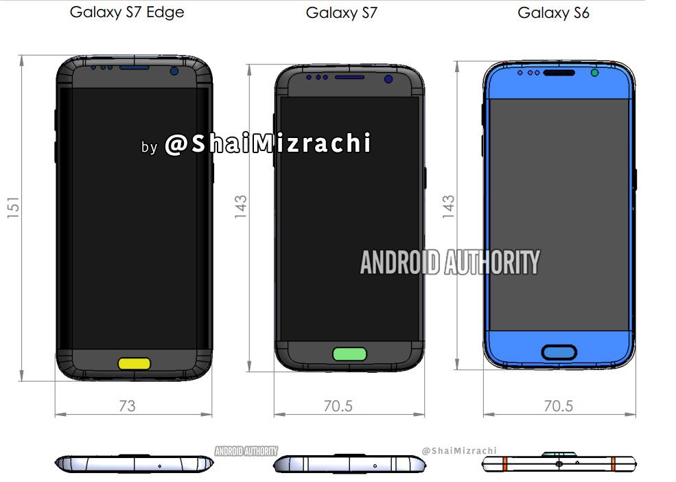 Exclusive: Galaxy S7 / S7 Edge Diagram leak