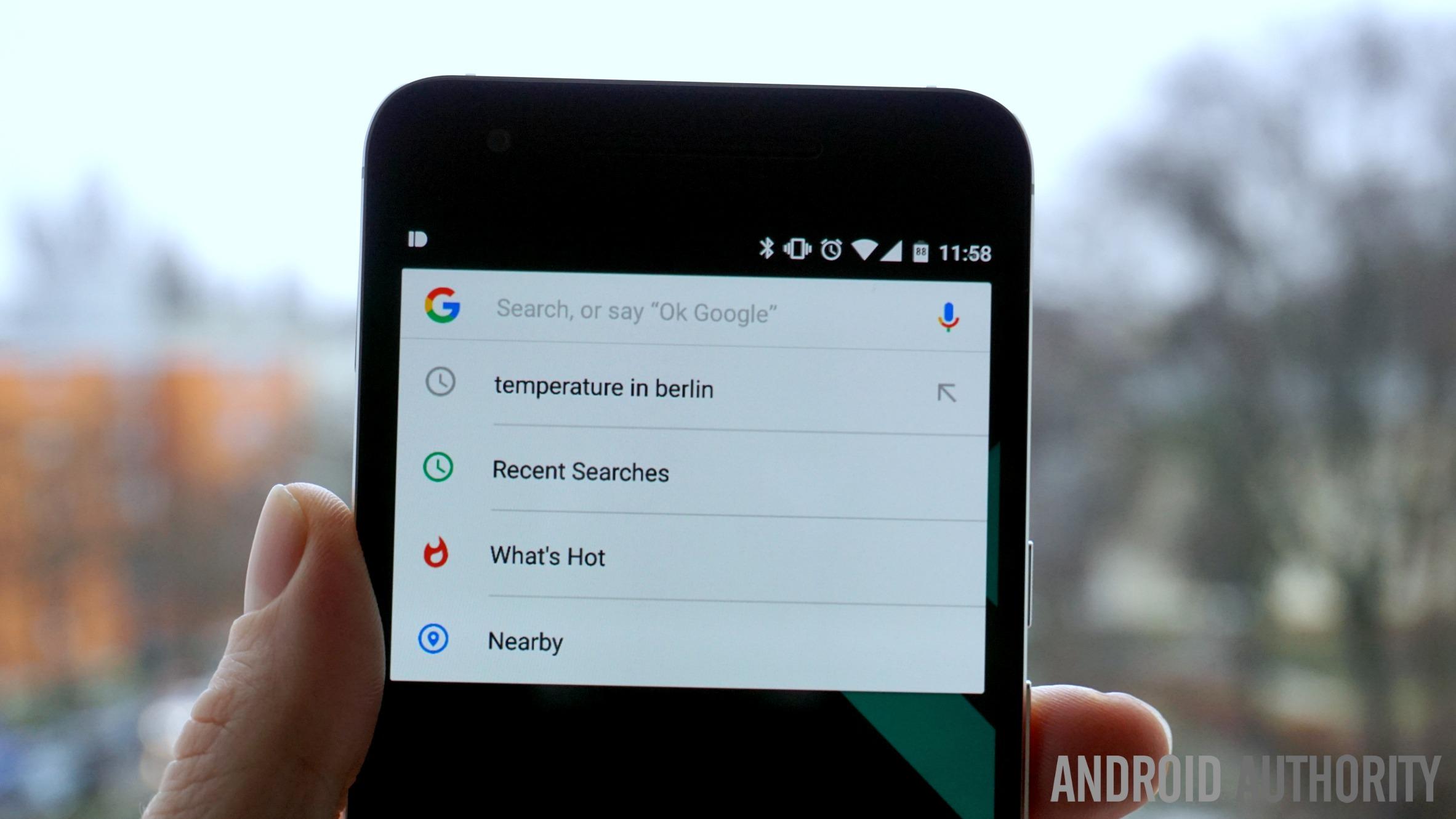 Google Now search change