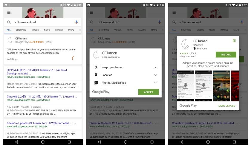 Google search app install CF Lumen