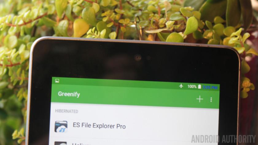 Greenify Nexus 7