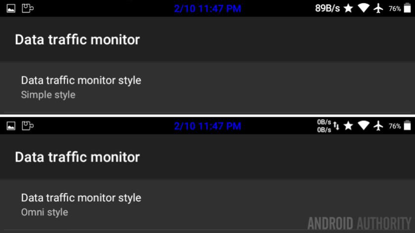 GravityBox LP data monitor style