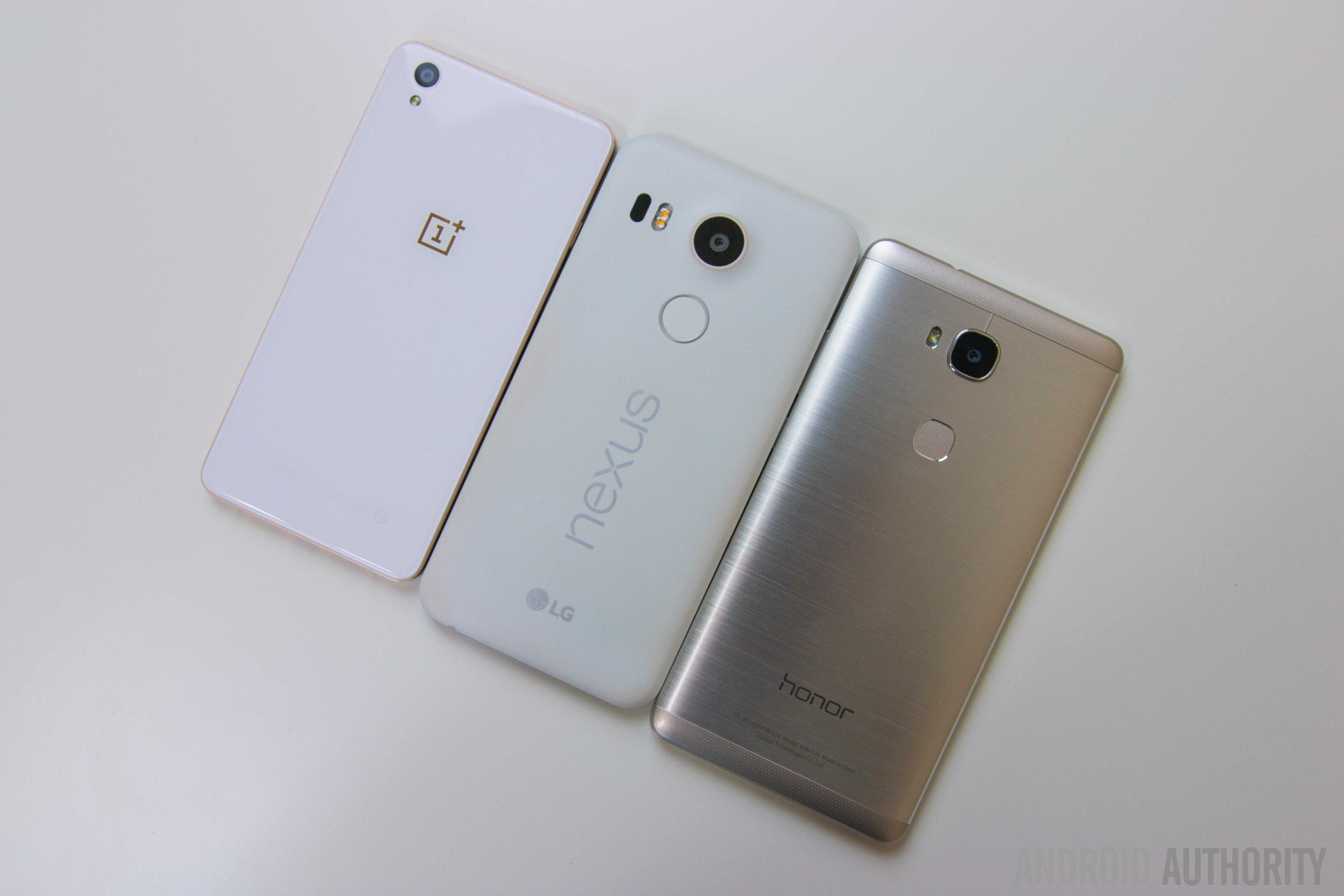 Honor 5X vs Nexus 5X vs OnePlus X-1