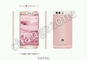 Huawei P9 pink angles