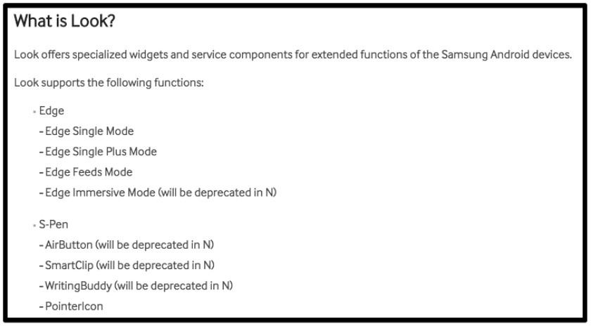 Look API SAMSUNG Developers