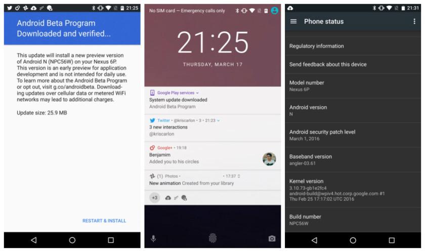 Android N OTA update