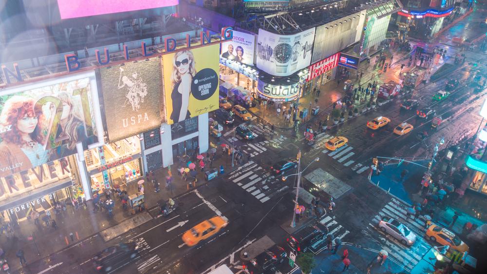 Busy Intersection NY City