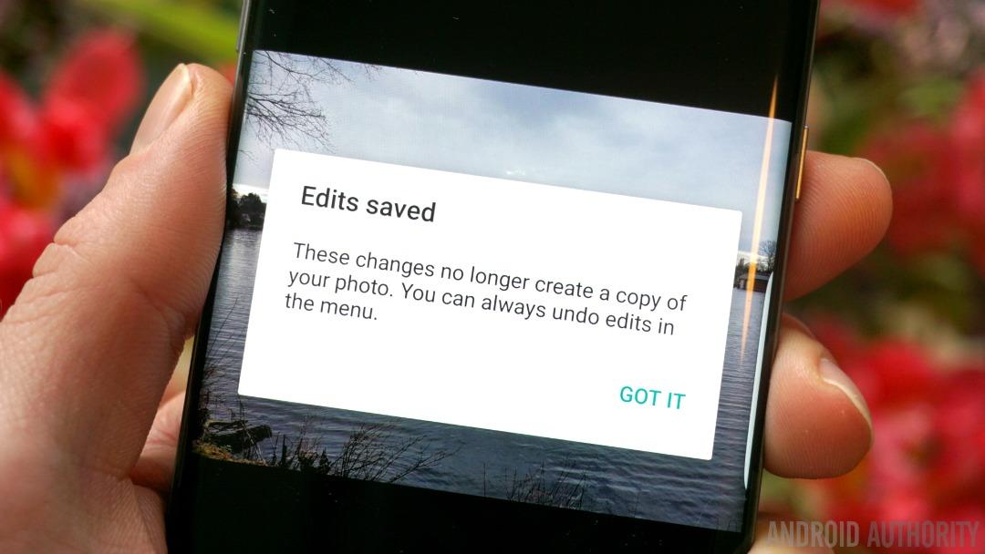 Google Photos non-destructive editing