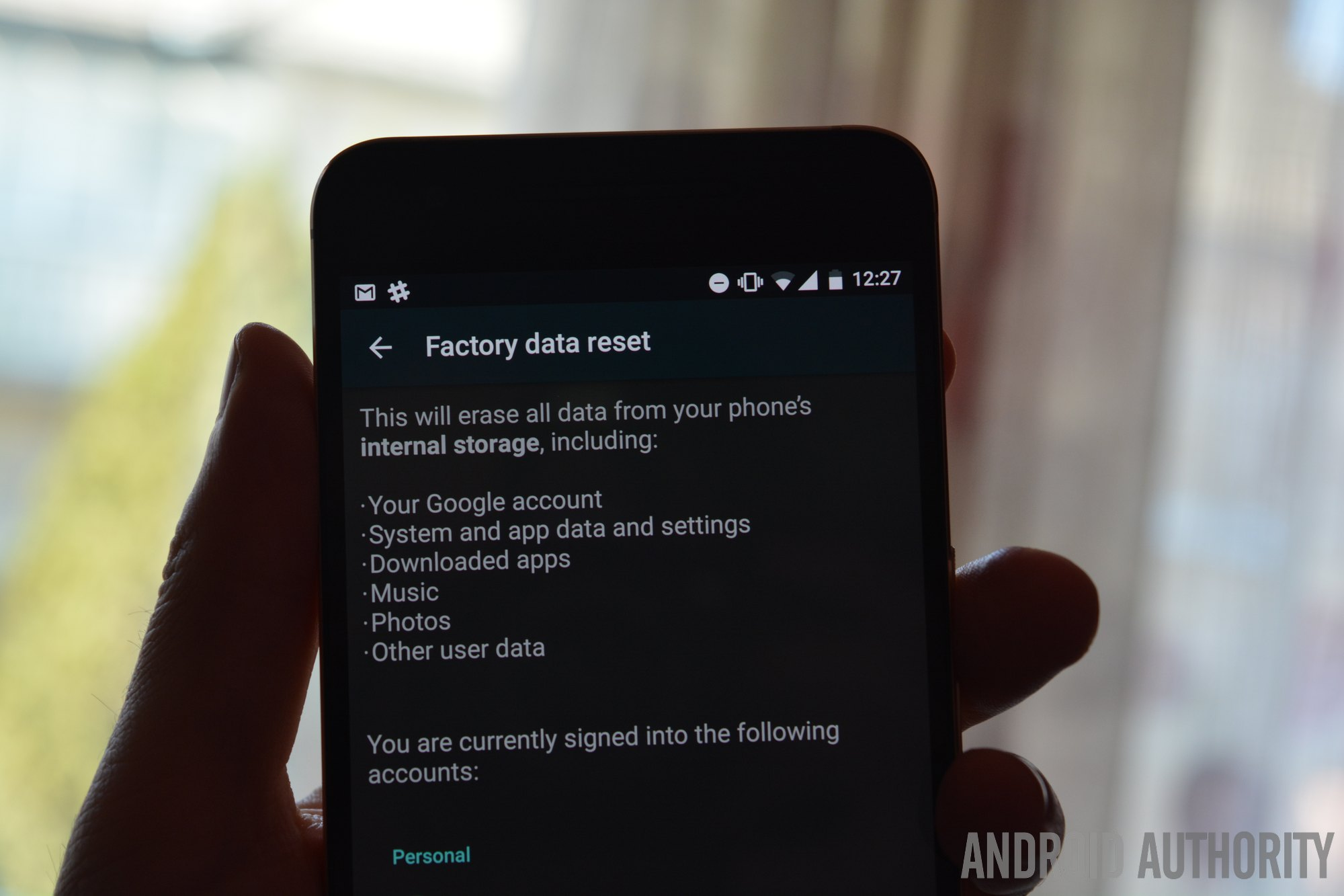 factory reset protection factory data