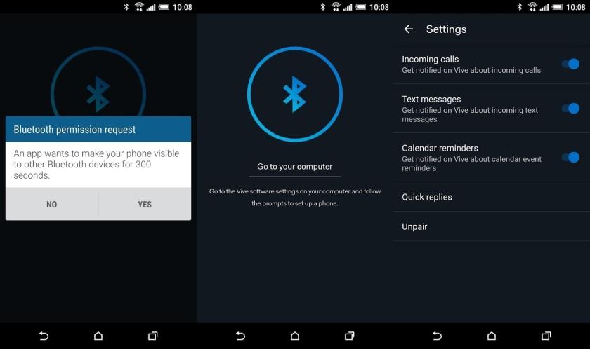 HTC Vive Phone Companion app