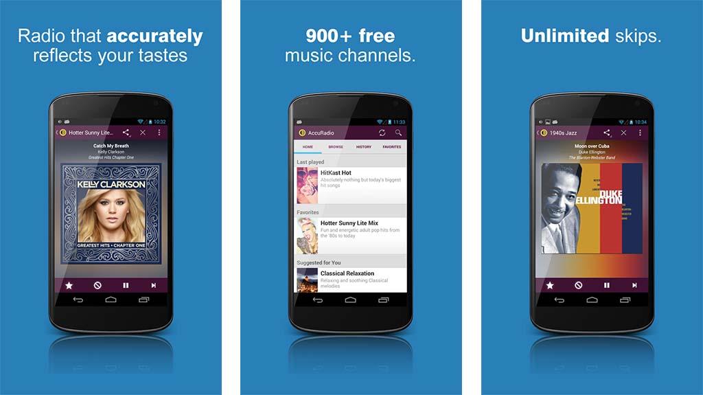 AccuRadio best radio apps screenshot
