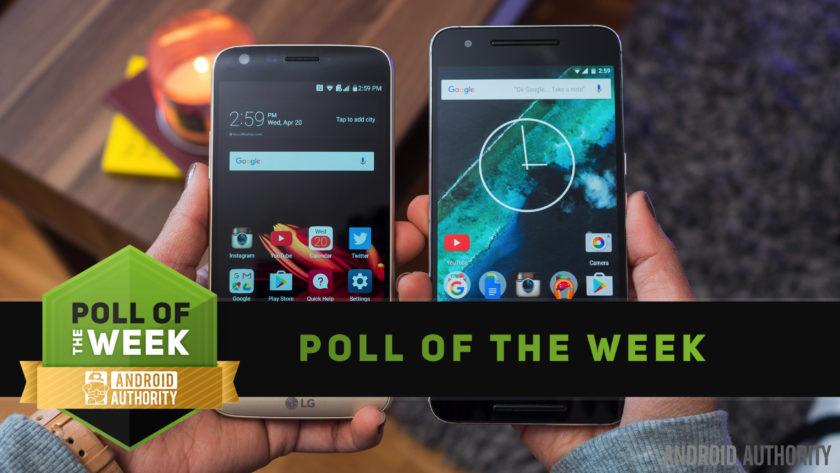 LG G5 vs Nexus 6P poll of the week