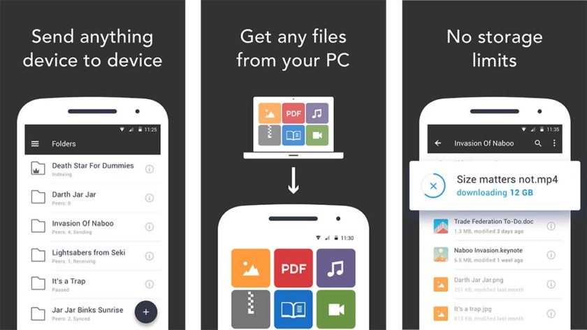 Resilio Sync screenshot 2017 840x472 - 5 best Android apps to transfer files from Android to PC and other ways too!