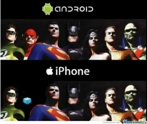 Memes android vs iphone