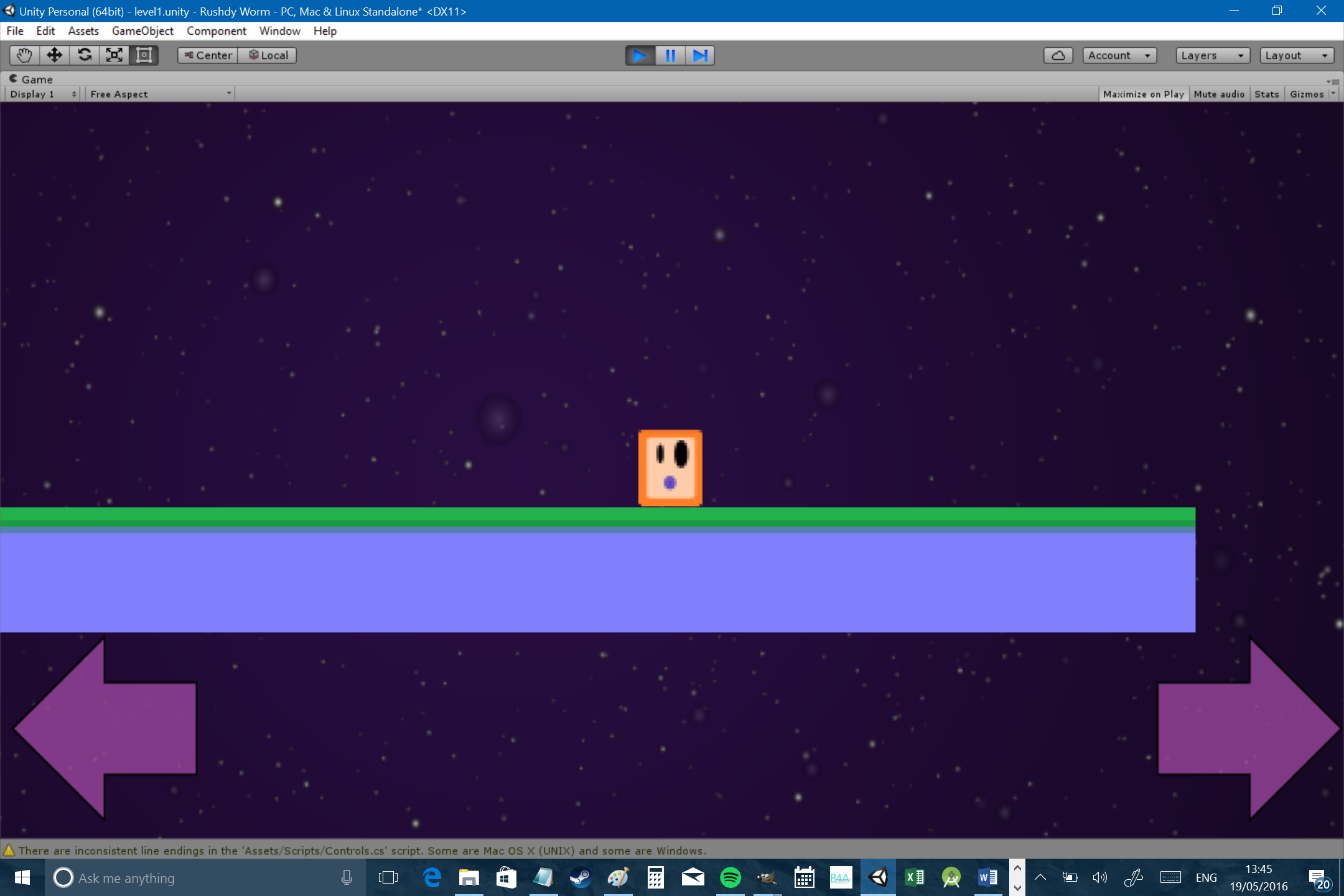 How to create a 2D platformer for Android in Unity - Part one