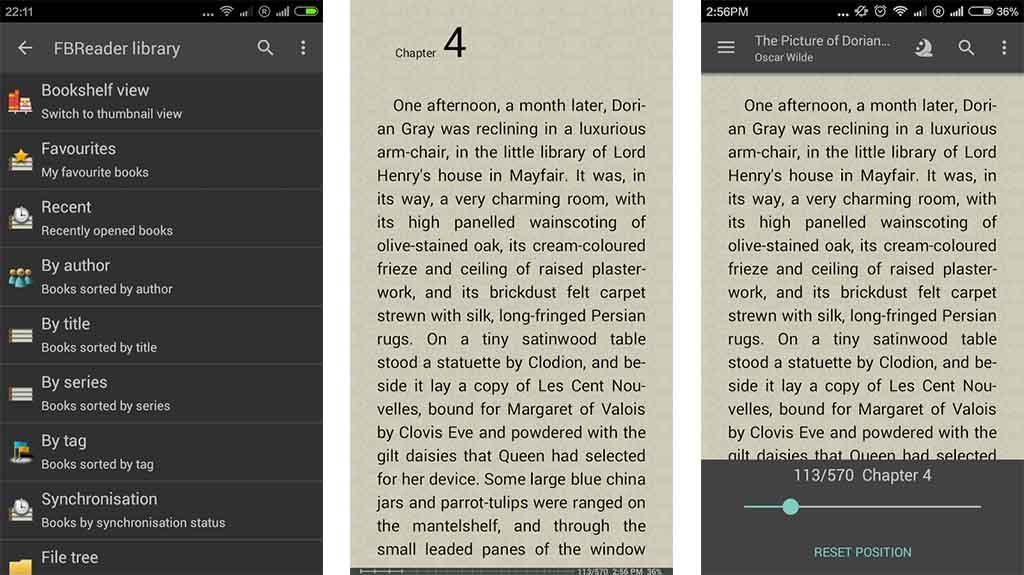 FBReader screenshot for the best ebook reader apps list