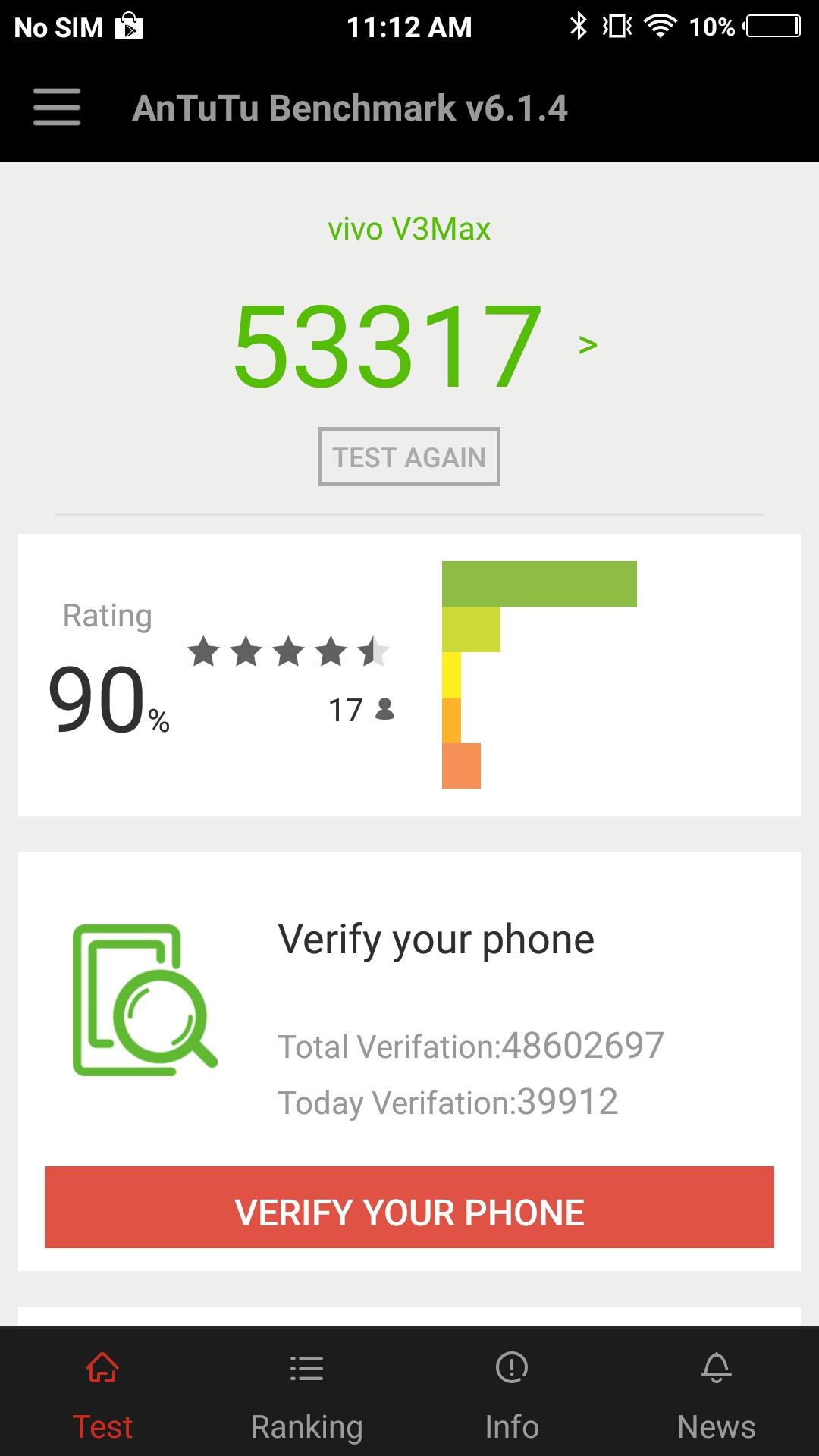 Vivo v3 Max Specs and Price - Antutu Benchmark Stats Image
