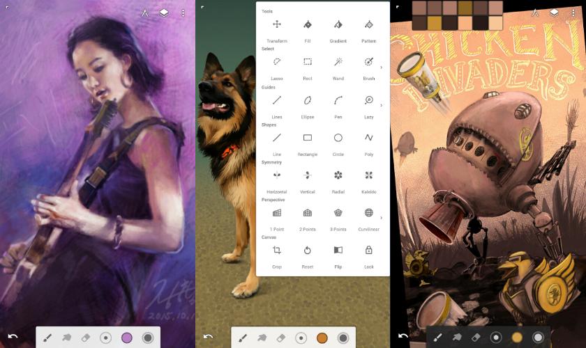 Infinite Painter screens