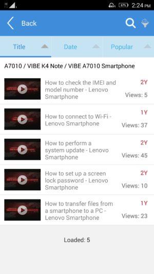 Lenovo K4 Note screenshot - software-13